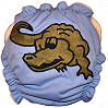 Applique Diaper - Alligator