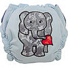 Applique Diaper - Elephant