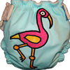 Applique Diaper - Flamingo