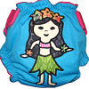 Applique Diaper - Hula