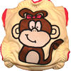 Applique Diaper - Monkey