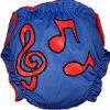 Applique Diaper - Music