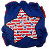Applique Diaper - Patriotic Star