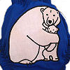 Applique Diaper - Polar Bears