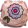 Applique Diaper - Fun Flower