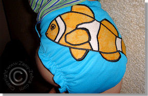 Cloth Diaper Picture - Clownfish aren't Funny