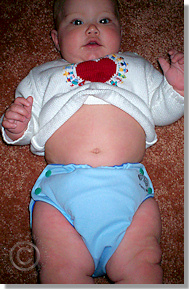 Cloth Diaper Picture - Love Those Buddah Bellies