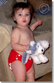 Cloth Diaper Picture - I Love my Puppy