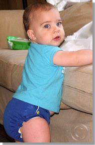 Cloth Diaper Picture - Looking for Trouble