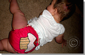 Cloth Diaper Picture - Cupcake Cutie