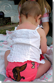 Cloth Diaper Picture - Playing Outside