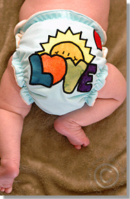 Cloth Diaper Picture - Newborn Love