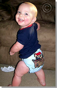 Cloth Diaper Picture - Mischief Maker?