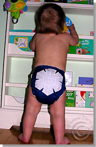 Cloth Diaper Picture - Peek a Boo!